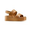 Sandali Platform bata, marrone, 664-3230 - 13