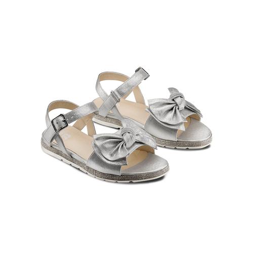 Sandali con fiocco mini-b, argento, 361-1223 - 16