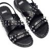 Sandali con borchie bata, nero, 561-6245 - 26