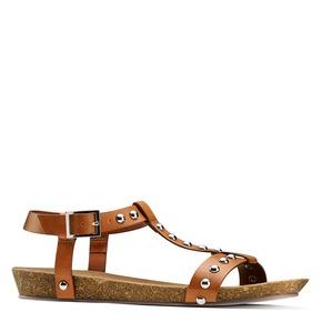 Sandali casual da donna bata, marrone, 561-3546 - 13