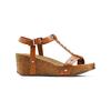 Sandali con zeppa bata, marrone, 661-3360 - 13