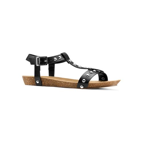 Sandali casual da donna bata, nero, 561-6546 - 13
