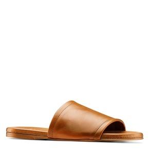 Ciabatte flat in pelle bata, marrone, 564-3146 - 13