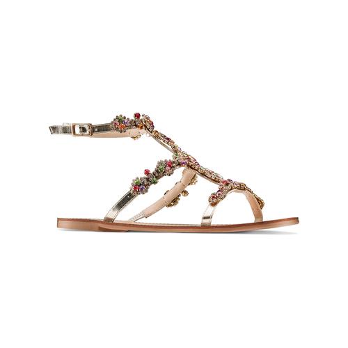 Sandali con applicazioni bata, argento, 561-8544 - 13