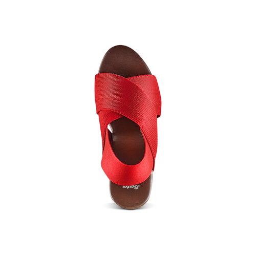 Sandali con tomaia elastica bata, rosso, 779-5110 - 17