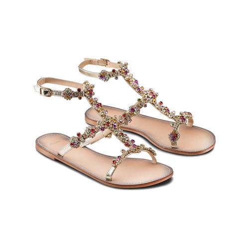 Sandali con applicazioni bata, argento, 561-8544 - 16