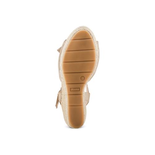 Sandali con applicazione bata, beige, 769-8237 - 19