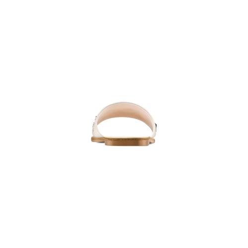 Ciabatte con borchie bata, bianco, 571-1464 - 15