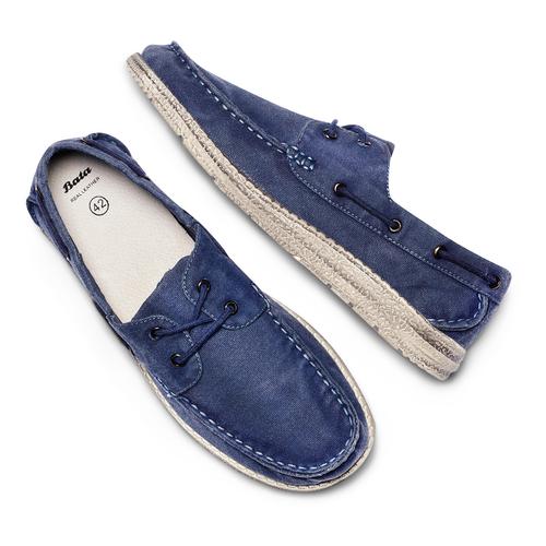 Scarpe da barca bata, blu, 859-9198 - 26