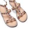 Sandali con applicazioni bata, argento, 561-8544 - 26