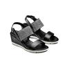 Sandali con strass bata, nero, 761-6321 - 16