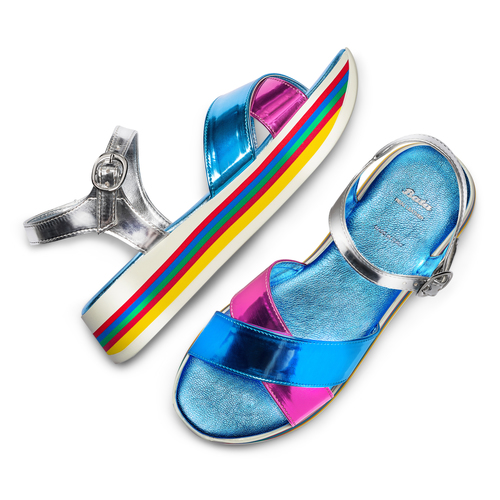 Sandali Multicolore bata, 561-0134 - 26
