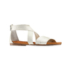 Sandali flat in pelle bata, bianco, 564-1327 - 13