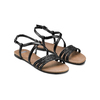 Sandali Flat bata, nero, 561-6539 - 16