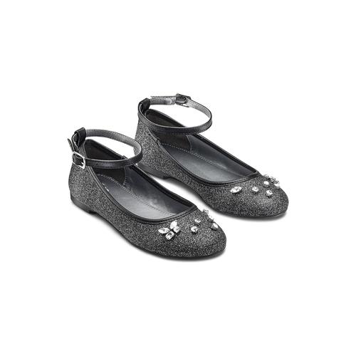 Ballerine con cinturino alla caviglia mini-b, nero, 329-6294 - 16