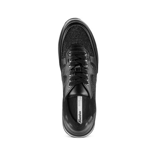 Sneakers con strass bata, nero, 541-6312 - 17