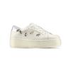 Sneakers platform con stelle bata, bianco, 541-1407 - 13