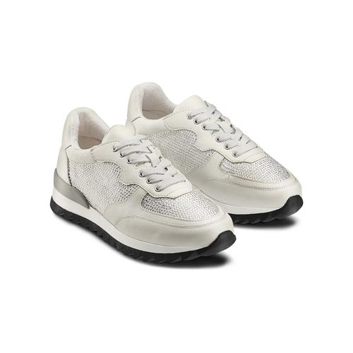 Sneakers con strass bata, bianco, 541-1312 - 16