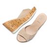 Ciabatte con zeppa bata, beige, 763-8104 - 26