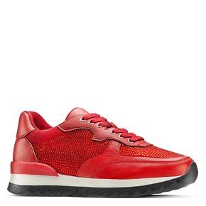 Sneakers con strass bata, rosso, 541-5312 - 13