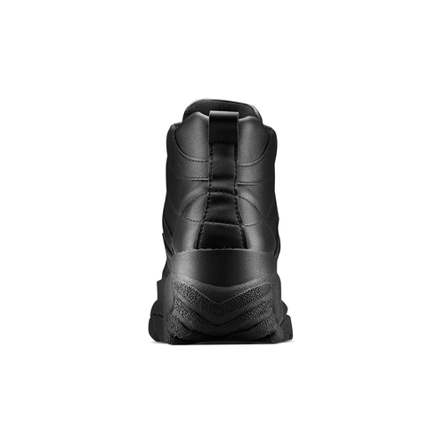 Sneakers alte con platform bata, nero, 541-6231 - 15