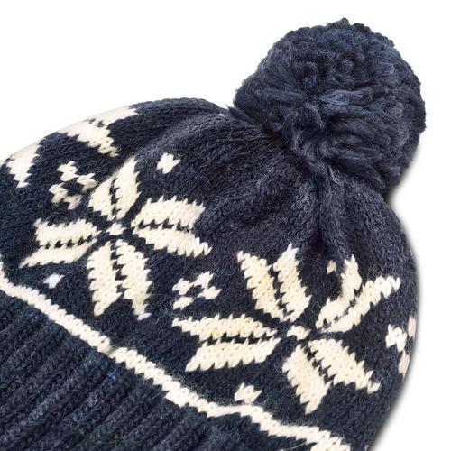 Cappello Bata con pom pon bata, blu, 909-9466 - 16